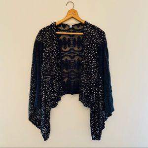 Urban Outfitter Ecote black lace kimono top